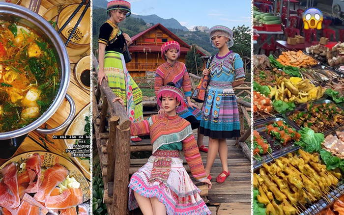 """Có hội chị em """"hợp cạ"""" ăn uống khi đi du lịch như Chi Pu - Quỳnh Anh Shyn - Sun HT thì còn ..."""