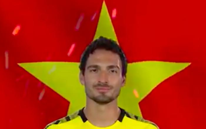 Nguyên dàn ngôi sao của giải bóng đá số một nước Đức cổ vũ U23 Việt Nam bằng ...