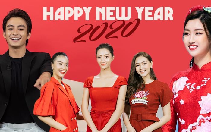 Clip Trường Giang, dàn Hoa hậu và sao Vbiz rộn ràng chúc xuân Canh Tý 2020: ...