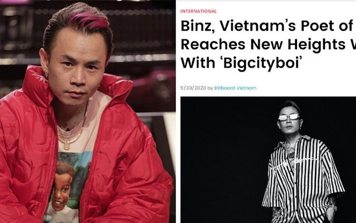 Binz bất ngờ lên tạp chí Billboard Mỹ, còn được ưu ái gọi bằng danh xưng