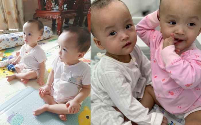 Hình ảnh mới nhất của Trúc Nhi - Diệu Nhi sau 5 ngày xuất viện: Ăn ngoan và vẫn giữ tư thế ngủ cực yêu như hồi ở viện