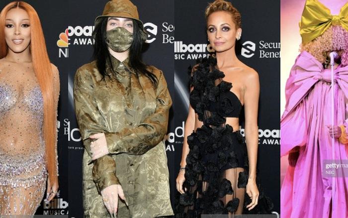 """Dàn sao khủng đổ bộ Billboard Music Awards: Doja Cat """"đốt mắt"""", choáng nhất Sia và sao nam đi """"dép lào"""", Billie Eilish ra sao sau màn hở bạo?"""
