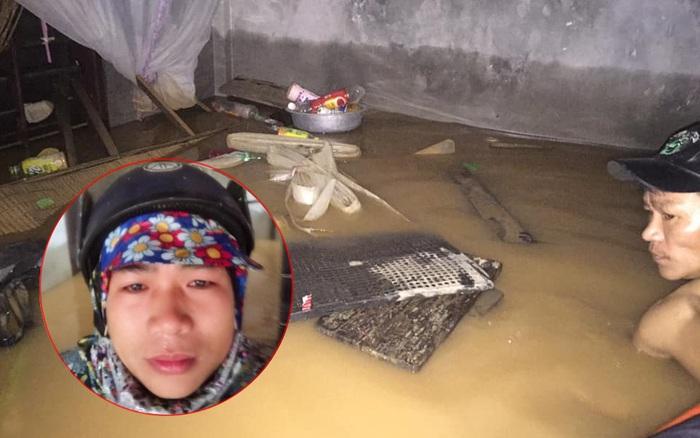 Cơ quan chức năng địa phương đã tiếp cận được và cứu trợ cho gia đình 6 thành viên mắc kẹt trong ngôi nhà ngập nước ở Quảng Bình