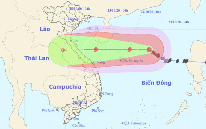 Bão số 8 hướng thẳng bờ biển từ Hà Tĩnh đến Quảng Trị, khả năng suy yếu khi vào đất liền