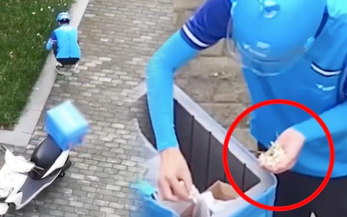 Anh shipper đang giao đồ ăn thì dừng xe để… nhặt hoa dại bên đường, hành động sau đó khiến ai xem cũng vui lây