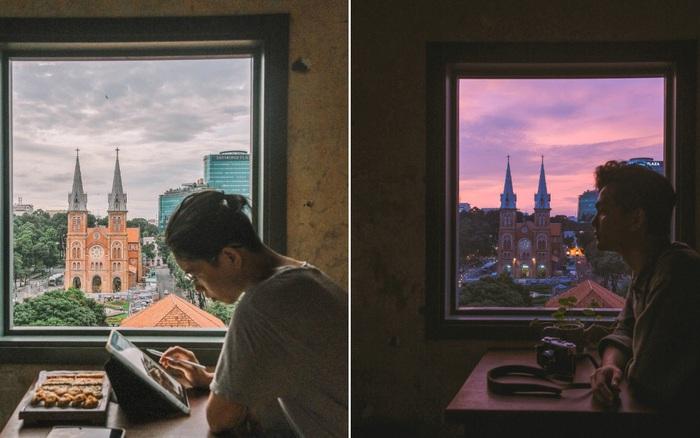 """Sài Gòn xuất hiện quán cà phê có ô cửa sổ nhìn thẳng ra nhà thờ Đức Bà tuyệt đẹp, dự là sẽ """"gây bão"""" ầm ầm cho xem!"""