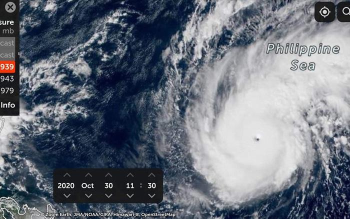 Bão Goni khả năng tăng cấp thành siêu bão trước khi đổ bộ Philippines, sẽ đi vào Biển Đông trong đêm 1/11 - tin bão