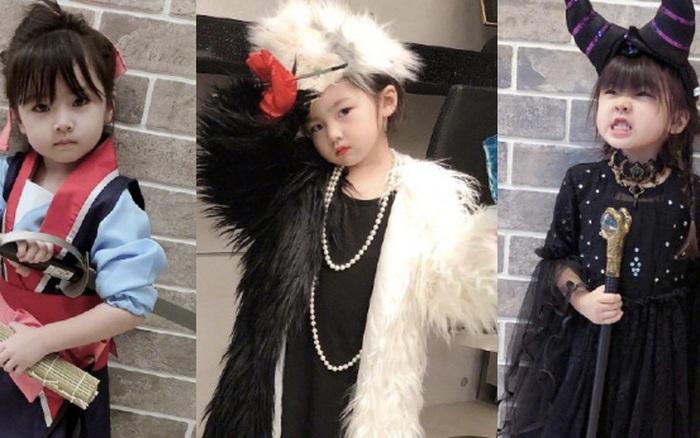 Công chúa 3 tuổi nhà mỹ nam Hạ Quân Tường gây sốt mùa Halloween: Từ Mulan, Tiên Hắc Ám đến phù thuỷ đều xinh