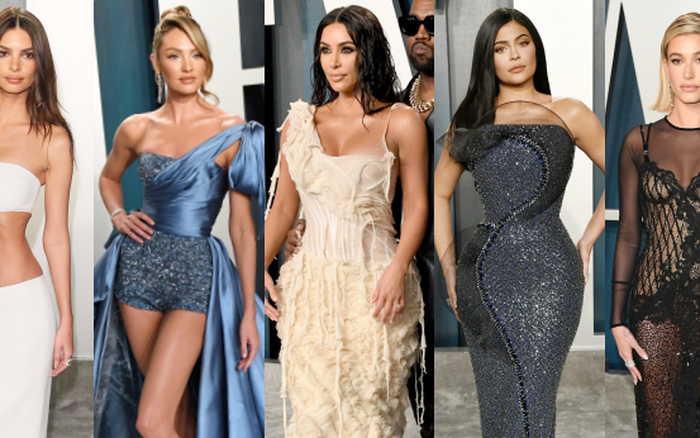 """Tiệc hậu Oscar 2020: Chị em Kim """"ngồn ngộn"""" chiếm trọn spotlight, cả dàn thiên thần ..."""