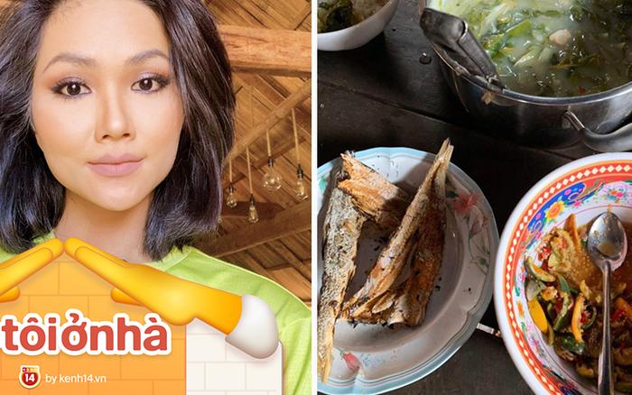 """Ở nhà mùa dịch, H'hen Niê """"tham vọng"""" trở thành food blogger: giới thiệu loạt đặc sản ..."""