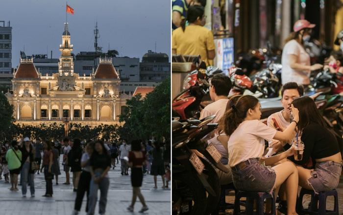 Sài Gòn nhộn nhịp trong buổi tối nghỉ lễ đầu tiên: Khu vực trung tâm ...