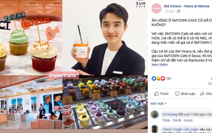 Tranh cãi quanh chuyện quán cafe của SM Entertainment khi về Việt Nam sẽ có ...