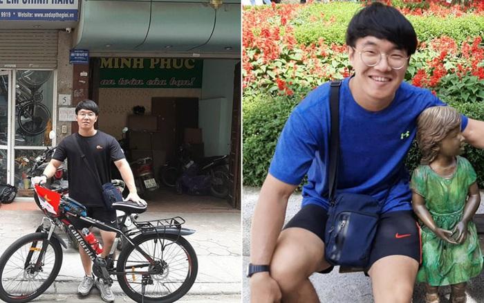 Trai Hàn đi du lịch từ Hà Nội đến Sài Gòn bằng xe đạp trong gần 1 ...