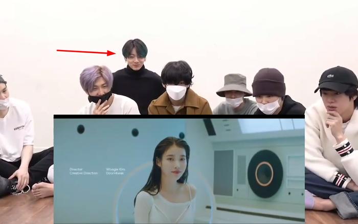 BTS im lìm khi reaction màn collab của IU và SUGA, mỗi Jungkook là ...