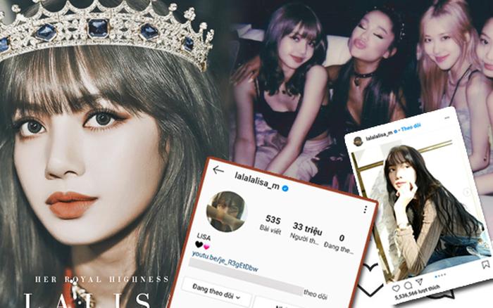 Lisa (BLACKPINK) chính thức cán mốc 33 triệu follower Instagram, lập 4 kỷ lục ...