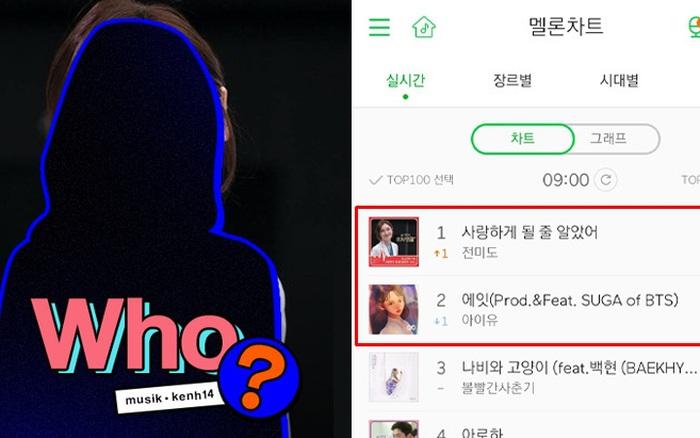 IU và SUGA, BOL4 và Baekhyun bị đánh bại trên BXH nhạc số bởi 1 nữ ...