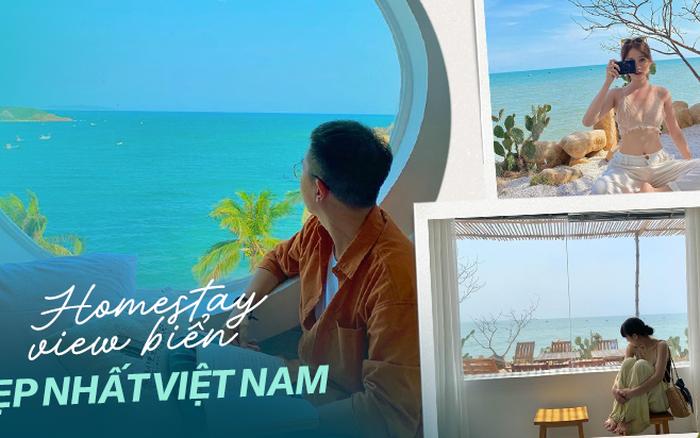 Khắp Việt Nam có những homestay chỉ cần mở cửa ra là thấy biển ngay trước mặt, xinh đến ...