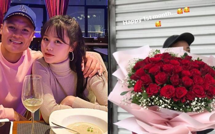 Quang Hải tặng hoa hồng khủng cho Huỳnh Anh kỷ niệm 1 tháng công khai hẹn hò, ...