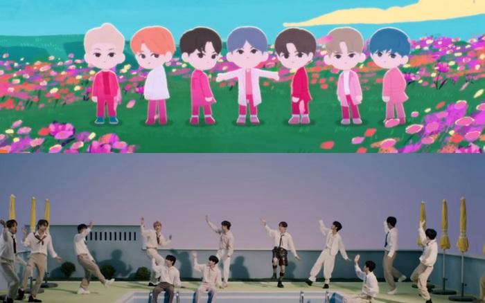 """Big Hit """"đánh úp"""" 2 MV cùng lúc của BTS và ..."""