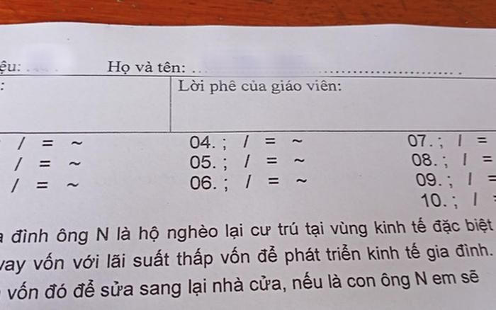 """Cô giáo ra đề toàn ký hiệu """"lạ hoắc"""", học ..."""