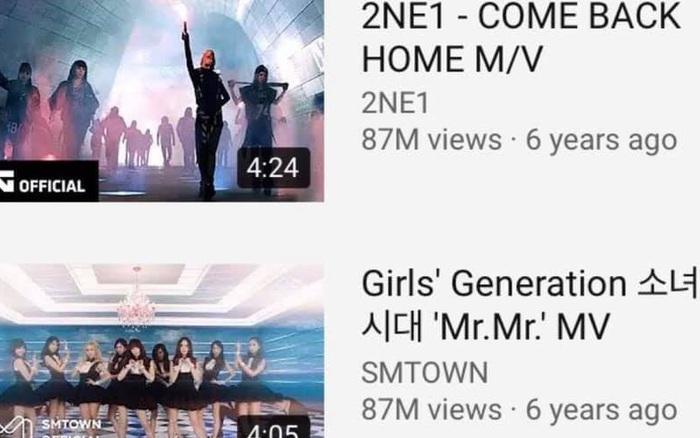 MV của SNSD và 2NE1 âm thầm san bằng view nhau, fan 2 nhà nổi hứng ...