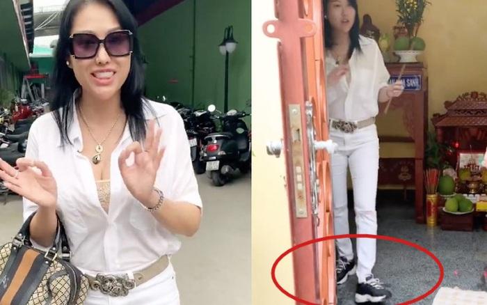 Phi Thanh Vân gây tranh cãi vì mang giày vào khu ...