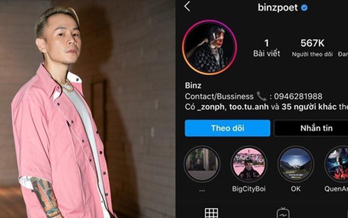 Instagram của Binz bỗng dưng trống hoắc, chỉ còn duy nhất bài post được cho là ...
