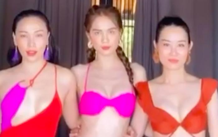 Ngọc Trinh diện bikini đọ dáng bên hội bạn thân Quỳnh Thư: Xinh đẹp chẳng ...