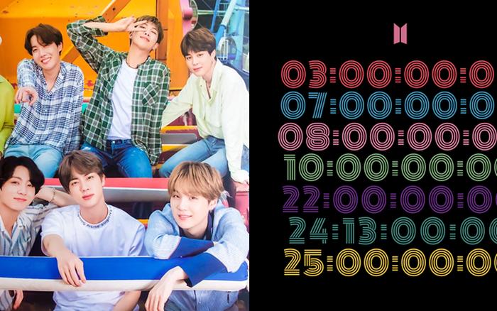 """BTS tung """"thính"""" đầu tiên cho màn comeback tháng 8: Nhìn qua cứ tưởng mật mã bí ẩn, hóa ra là lịch trình đếm ngược hẳn hoi!"""
