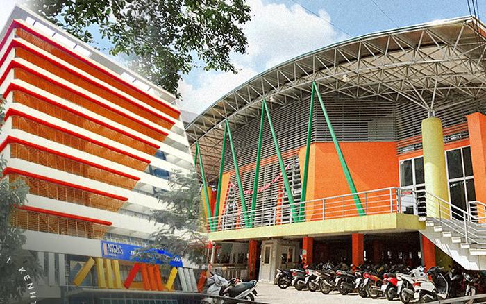 Sơn đủ 7 sắc cầu vồng xanh, đỏ, cam, vàng..., Đại học Kiến trúc Hà Nội xứng danh ngôi trường