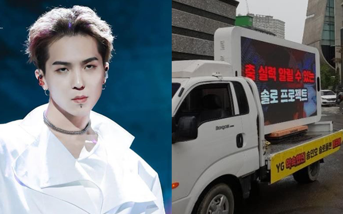 """Fan của Mino (WINNER) bị """"ném đá"""" khi thuê xe tải biểu ..."""
