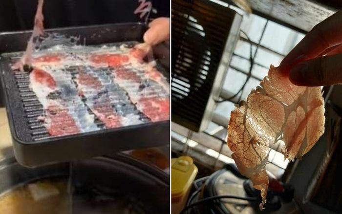 """Một nhà hàng lẩu phục vụ miếng thịt """"tàng hình"""" gây ..."""