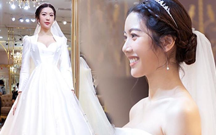 Thuý Vân chính thức hé lộ váy cưới: Lộng lẫy, gợi cảm thế ...