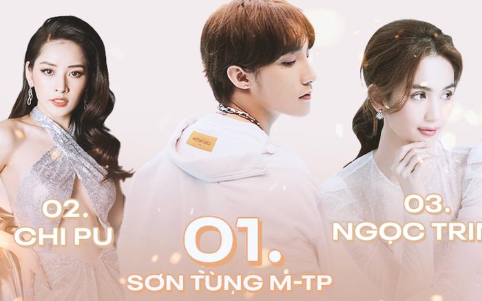 Cuộc đua cực gắt Top 3 sao Việt rung chuyển MXH: Ngọc Trinh đe dọa soán ngôi Sơn ...