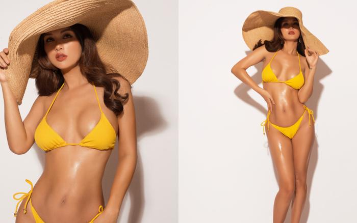 Oanh Yến tự tin diện bikini khoe body bốc lửa, nhìn hình có ai nghĩ ...