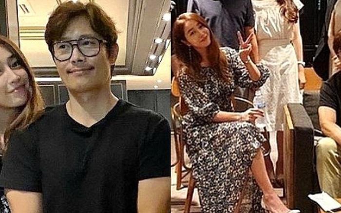 """Mặc tình cũ Song Hye Kyo dính lùm xùm tình cảm, Lee Byung Hun ngọt ngào nắm tay vợ minh tinh đi dự tiệc """"Train to Busan 2"""""""