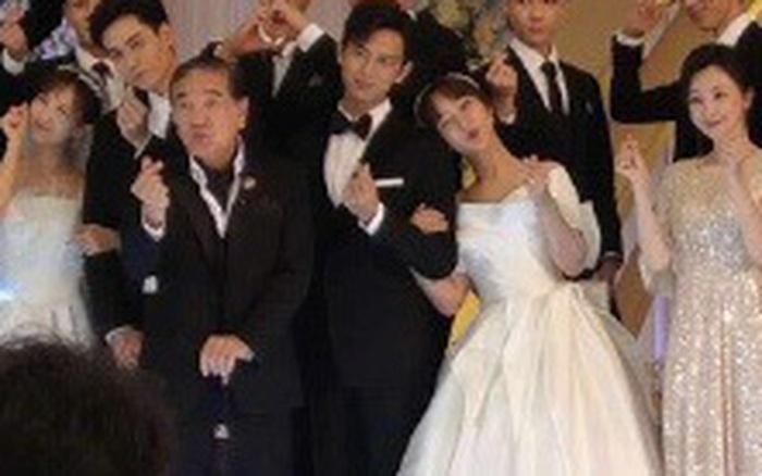 Rần rần hình ảnh Dương Tử mặc váy cưới, cùng Lý Hiện tổ chức hôn lễ với dàn sao Cá Mực Hầm Mật