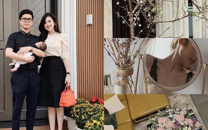 """Hé lộ cuộc sống """"chanh sả"""" của Á hậu Tú Anh sau khi lấy chồng thiếu gia: Hàng hiệu xa xỉ, nhà cao cửa rộng nội thất xa hoa"""