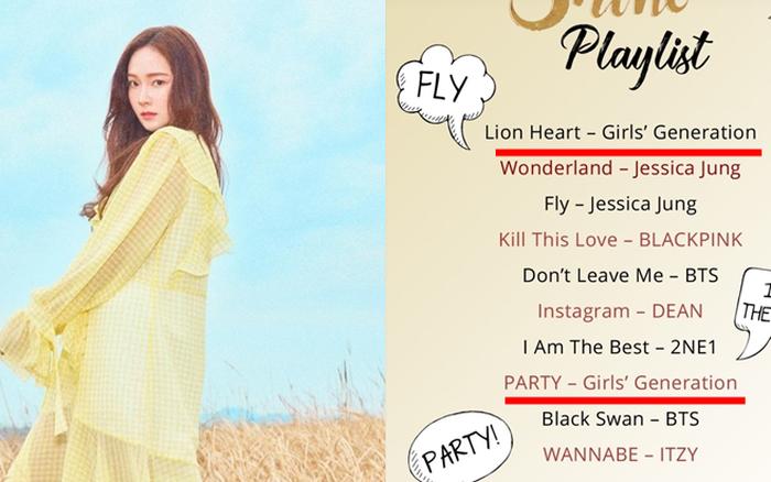 Jessica chọn nhạc BTS, BLACKPINK vào playlist sách mới của mình, nhưng bất ngờ khi có đến 2 ca khúc của SNSD thời 8 thành viên?