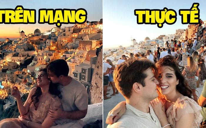 """Đăng clip sống ảo lên Instagram, cặp đôi vạch trần cảnh """"đông đến ngộp thở"""" tại Santorini, đáng chú ý là không một ai đeo khẩu trang?"""
