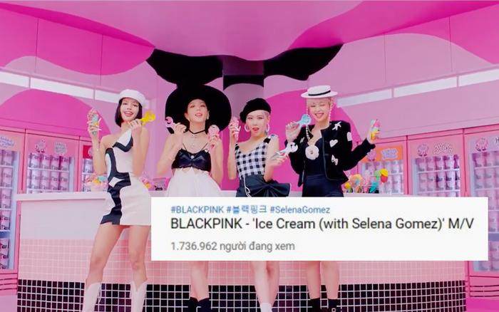 MV Ice Cream có hơn 1,7 triệu người xem công chiếu trực tiếp, BLACKPINK và Selena Gomez kết hợp không phá nổi kỉ lục của BTS!