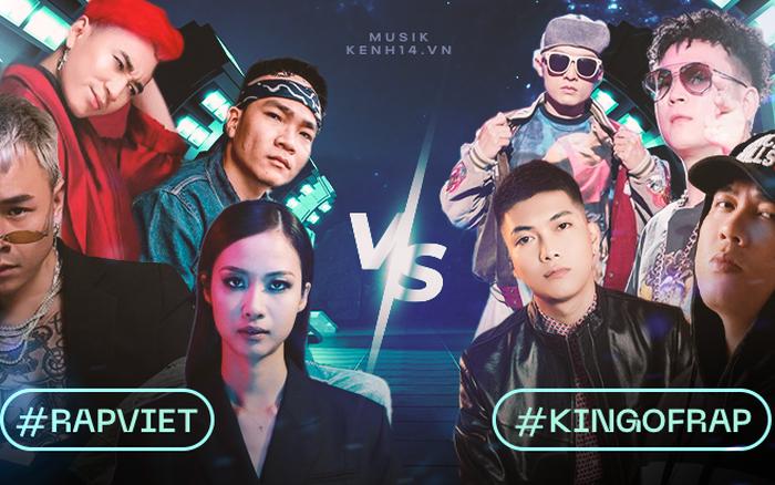 Rap Việt và King Of Rap đối đầu gay gắt ngay từ dàn HLV, hội tụ những nhân vật