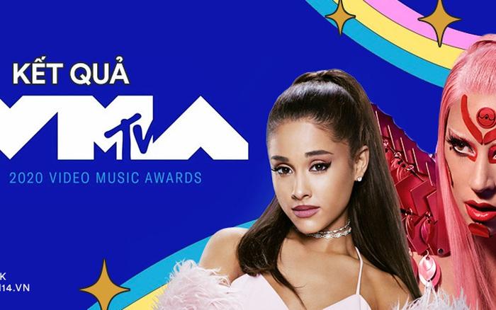Kết quả MTV VMAs 2020: Lady Gaga và BTS chiếm trọn spotlight, Ariana Grande