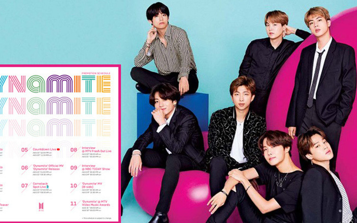 BTS tung lịch quảng bá single tiếng Anh cực chi tiết: Sẽ có tới 2 MV, sân khấu comeback diễn ra tại VMAs 2020?