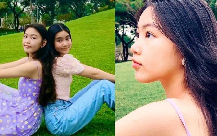 Bất chấp mẹ chụp cam thường, 2 tiểu thư nhà MC Quyền Linh vẫn đẹp