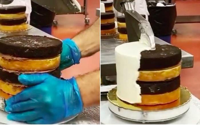 """Bất ngờ trước cách người ta làm ra hàng trăm chiếc bánh kem mỗi ngày, tất cả đều nhờ chiếc máy """"thần kỳ"""" này"""