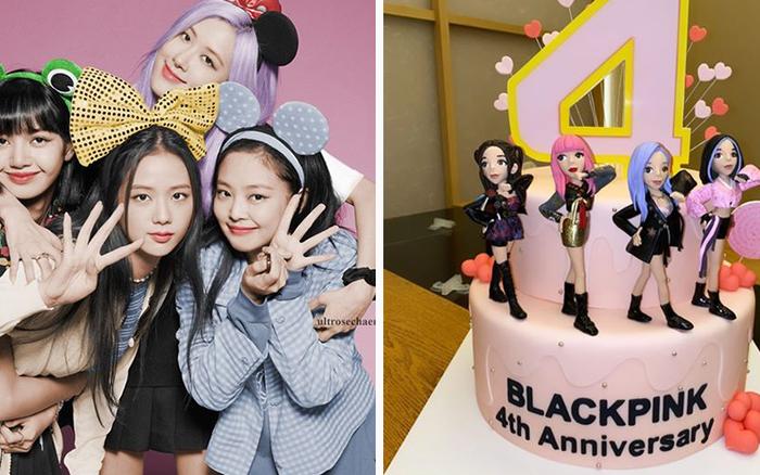 Kỷ niệm 4 năm debut, BLACKPINK được tặng 4 chiếc bánh kem quá ư cầu kỳ, ấn tượng nhất là khoản tạo hình có 1-0-2