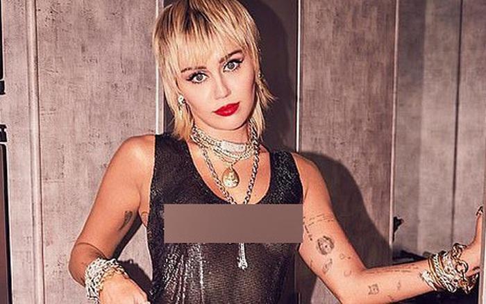 Miley Cyrus tung ảnh hậu trường VMAs gây sốc,