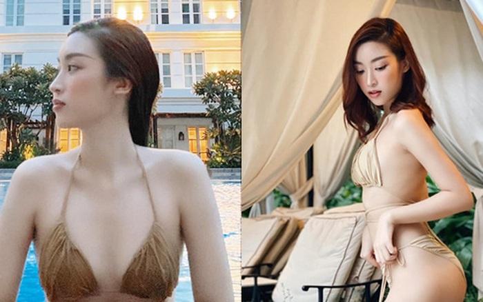 Đỗ Mỹ Linh hiếm hoi diện bikini nhỏ xíu táo bạo thế này, khoe body