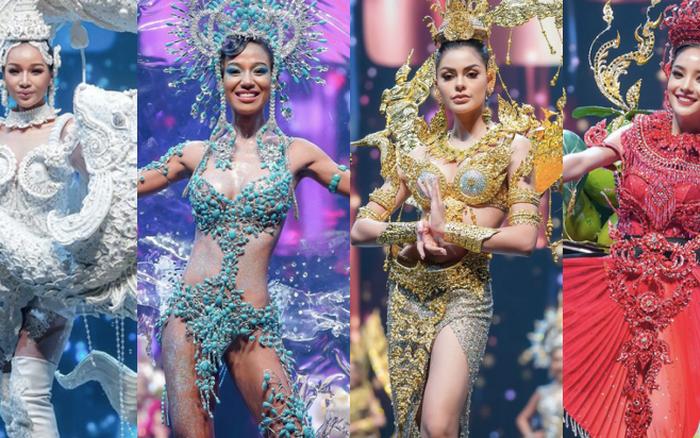 MXH náo loạn vì quốc phục có 1-0-2 tại Miss Grand ThaiLand 2020: Hết chợ nổi, bưởi da xanh đến... xương khủng long đem hết lên sân khấu